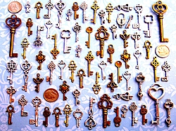 Old Fashioned Skeleton Keys Gothic Wedding Seat Gift Accent Decor Ornate New Vintage Antique Beads Pendant Charms Jewelry Craft Chimes