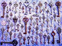 DIY Wedding Supplies New Skeleton Keys Mixed Size Vintage Antique Steam Punk Scrapbook Scrap Book Wholesale Supplies Party Supply Charms