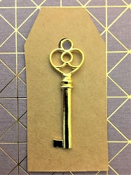 25 Skeleton Keys w Kraft Paper Luggage Tags 2.5