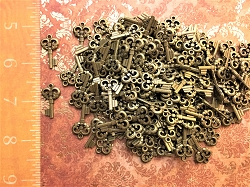 50 Small Heart Steampunk Skeleton Keys Bridesmaid Gift Accent Decor Ornate New Vintage Antique Craft Beads Pendant Charms Jewelry Chime (COPY)