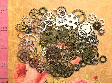 40 New Steampunk Watch Clock Gears Timepiece Timer Cogs Sprockets Wheels Buttons Ticker Meter Altered Art  Goggles Costume Cosplay